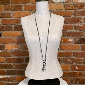 White House Black Market Crystal Pendant Necklace
